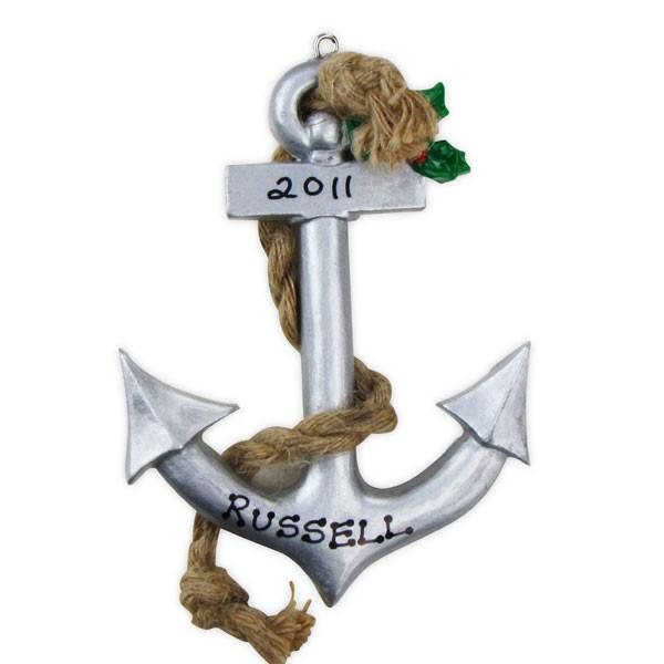 Boat Anchor- Personalized Christmas Ornament