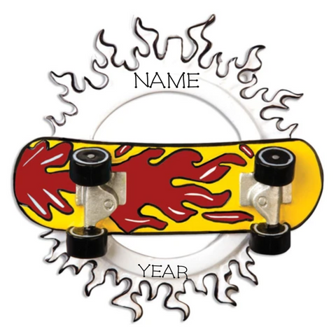 Skateboard- Personalized Christmas Ornament