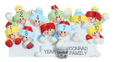 Snowball Fight- Family of 10 personalized ornament
