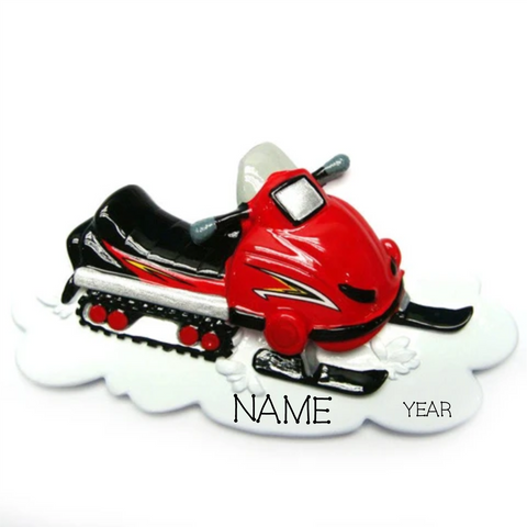 Snowmobile- Personalized Christmas Ornament