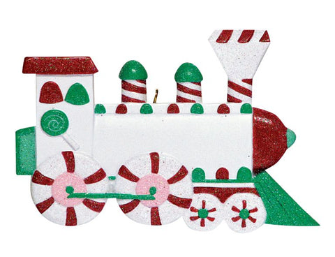 Sugar Train Personalized Christmas Ornament