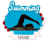 Swimming- Personalized Christmas Ornament
