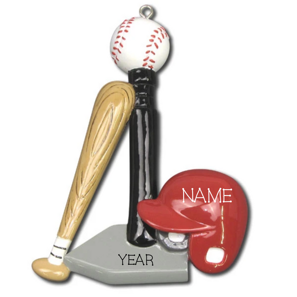 T-Ball Personalized Christmas Ornament