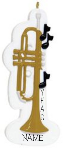 Trumpet- Personalized Christmas Ornament