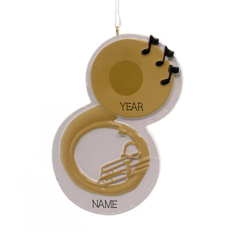 Tuba- Personalized Christmas Ornament