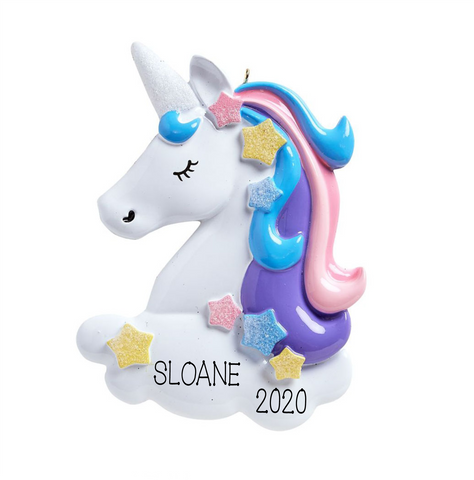 Unicorn-Personalized Christmas Ornament