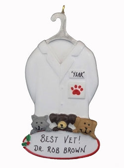 Vet Coat- Personalized Ornament