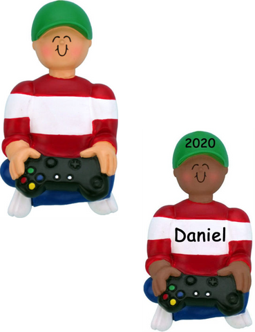 Video Game Player Personalized Christmas Ornament
