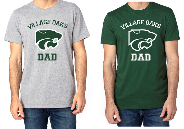 Village Oaks Dad, Unisex poly/cotton crew neck
