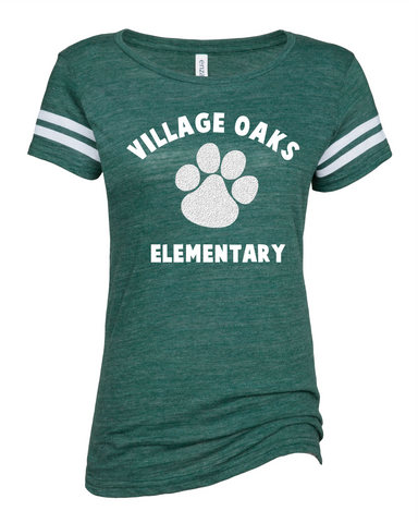 Village Oaks Elementary, Green and white stripe t-shirt