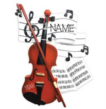 Violin with book- Personalized Christmas Ornament