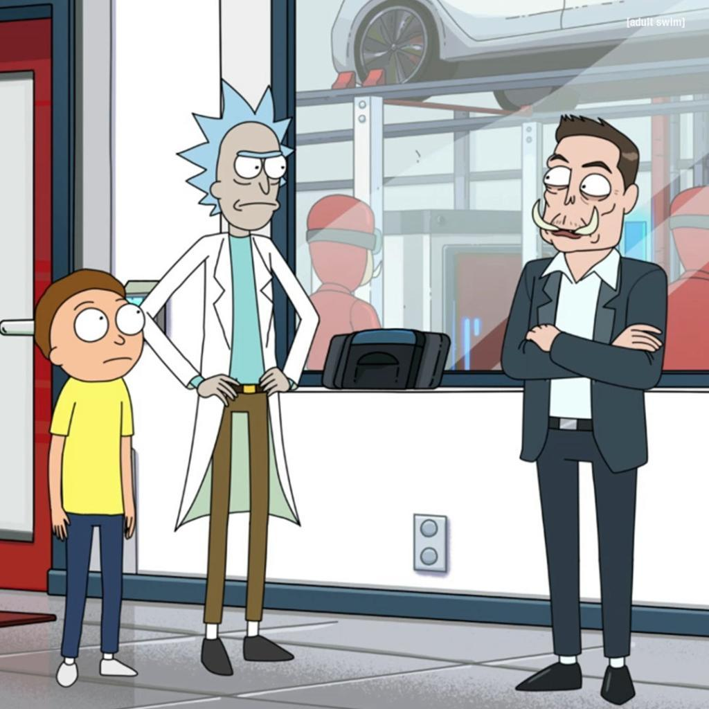 Elon Musk shows up on Rick and Morty show