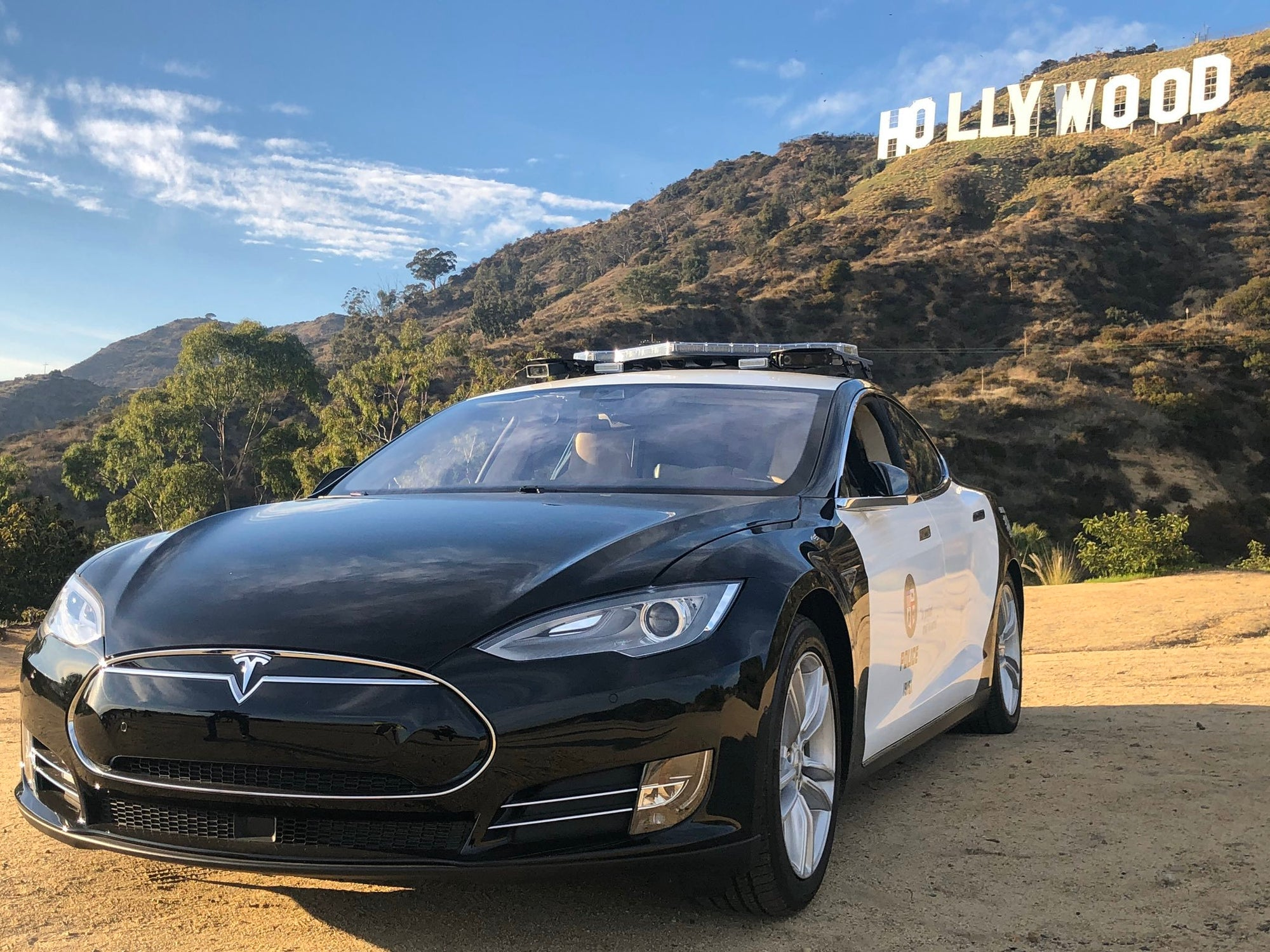 LAPD Hollywood Division tests out Tesla patrol car