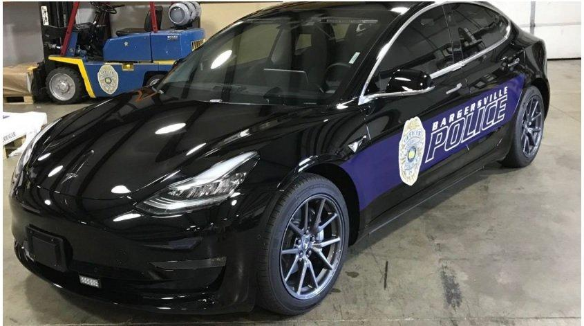 Bargersville Police Chief Todd Bertram is very pleased with the use of the Tesla Model 3