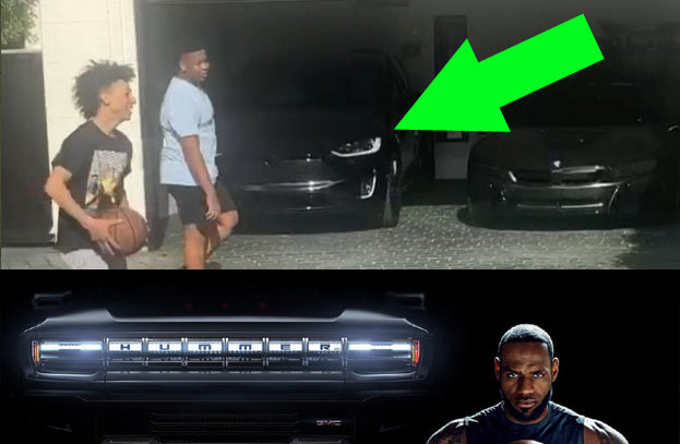 Hummer EV Spokesperson LeBron James Loves Tesla Model X in Real Life