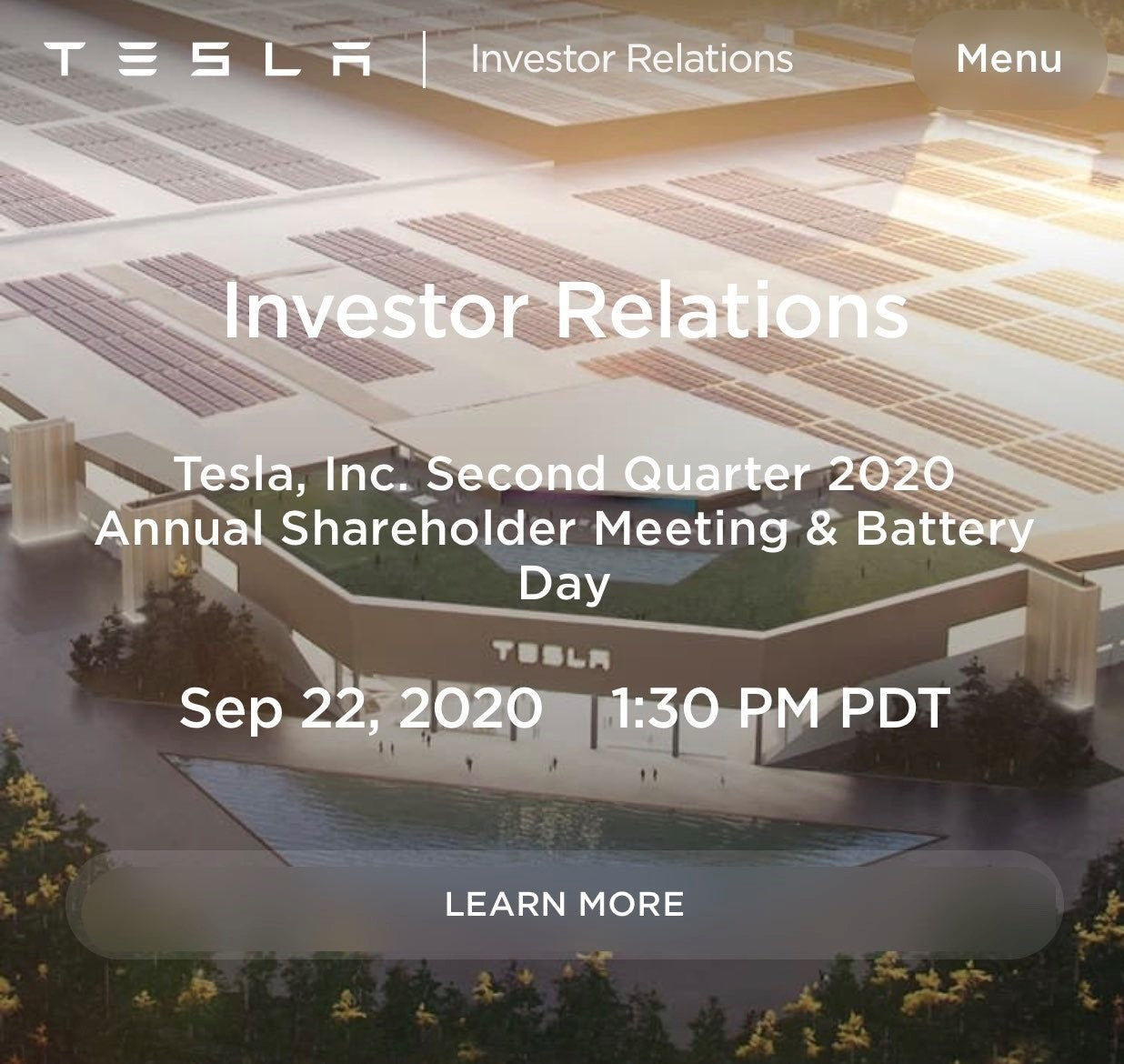Tesla Battery Day Will Present the Key 'To Accelerating the World's Transition to Sustainable Energy'