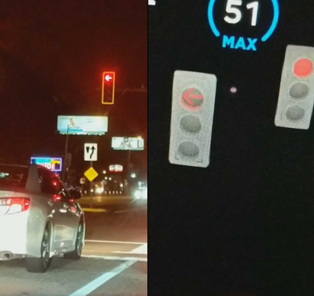 Realtime arrow signal light from the Tesla's FSD preview hints completion is near [Video]