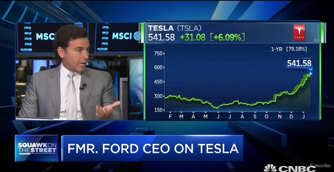 Former Ford CEO says Tesla is an 'Iconic Brand'