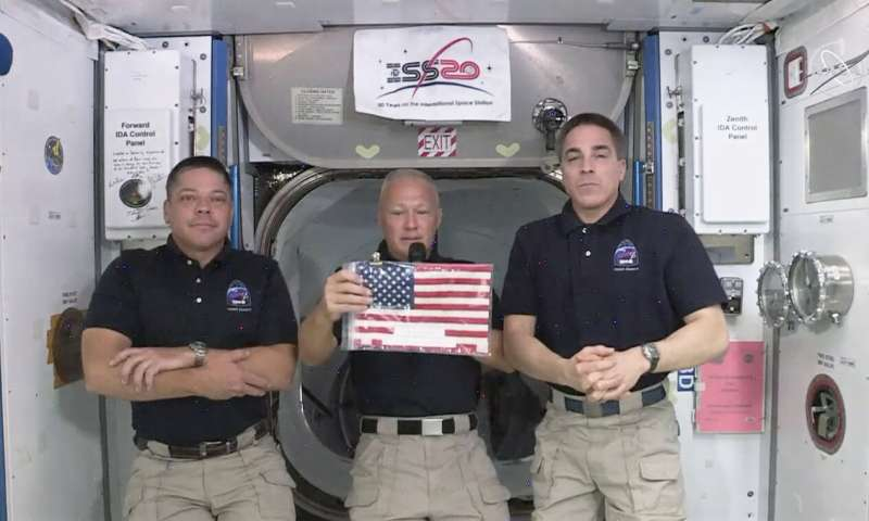 SpaceX wins U.S. Flag that waited at the Space Station for NASA Astronauts to launch from American soil