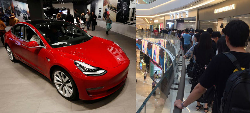 The first deliveries of Tesla Model 3 to Korea