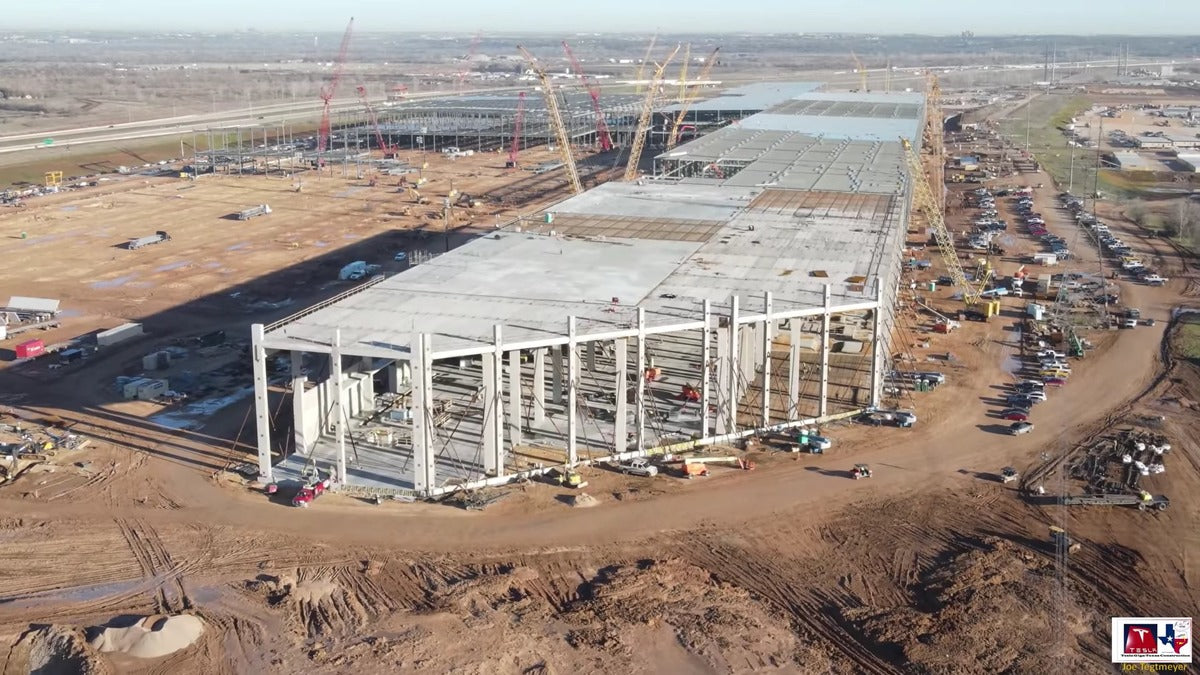 Tesla Giga Texas Resumes Blistering Pace of Construction after Storm Strikes Texas