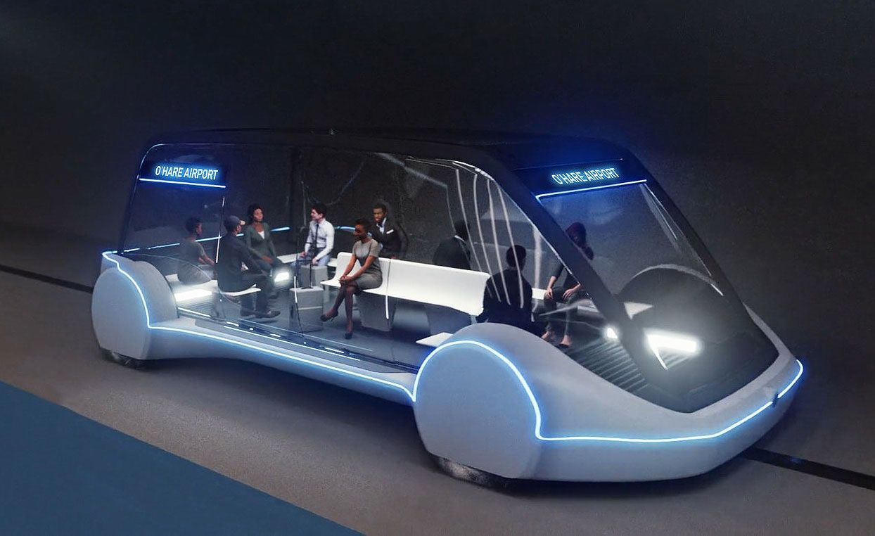 Tesla & Boring Company Together To Develop 12 Seater Electric Van, San Bernardino County Approved New Tunnel to Ontario Int'l Airport