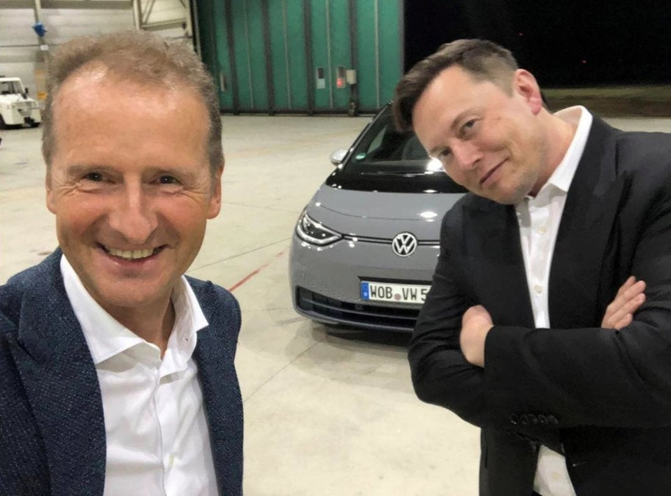 Tesla CEO Elon Musk Test Drives ID.3; VW CEO Clarifies the Companies are not Looking to Partner