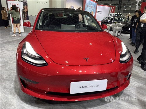 Tesla is showcasing in the Taipei Auto Show the 1st time ever