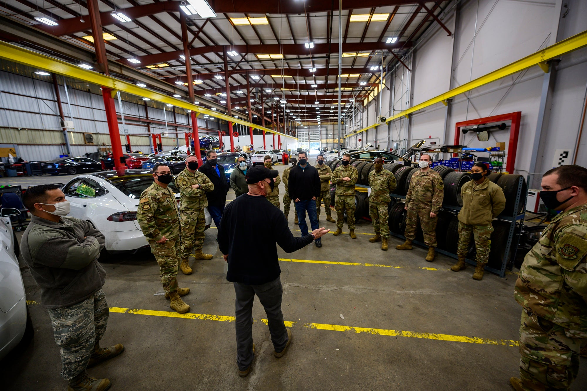 Tesla Vehicle Maintenance & Repair Excellence Highlighted as Travis AFB Airmen Visit Tesla in Berkeley CA