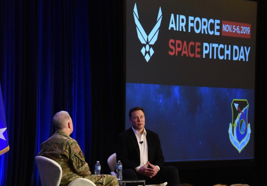 Tesla CEO Elon Musk visited Air Force Space Pitch Day