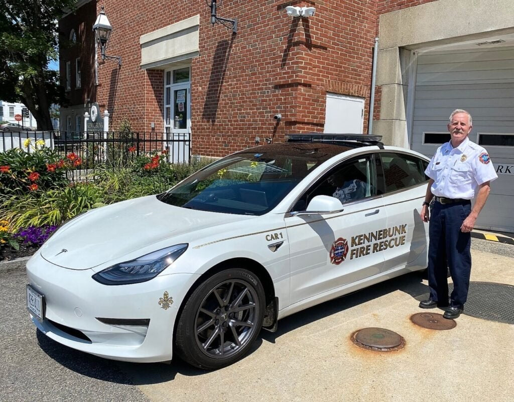 Tesla Model 3 Joins Kennebunk Fire Department as the Command Vehicle