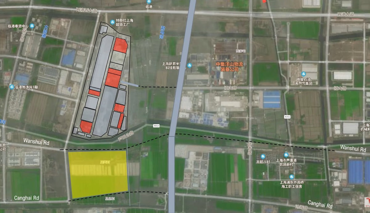 Tesla Is Rumored to Have Acquired Significant New Land South of Giga Shanghai