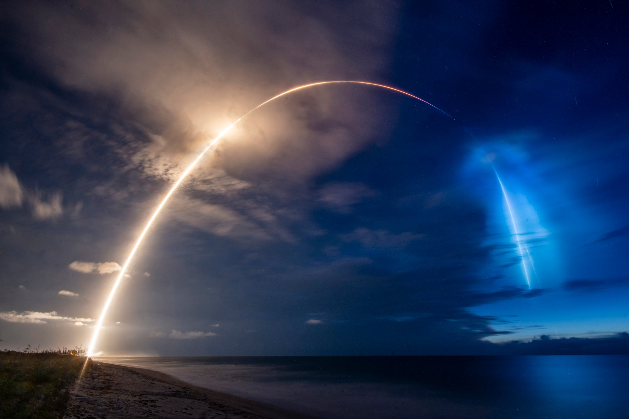 A previously-flown SpaceX Falcon 9 rocket successfully deploys Starlink and Planet satellites