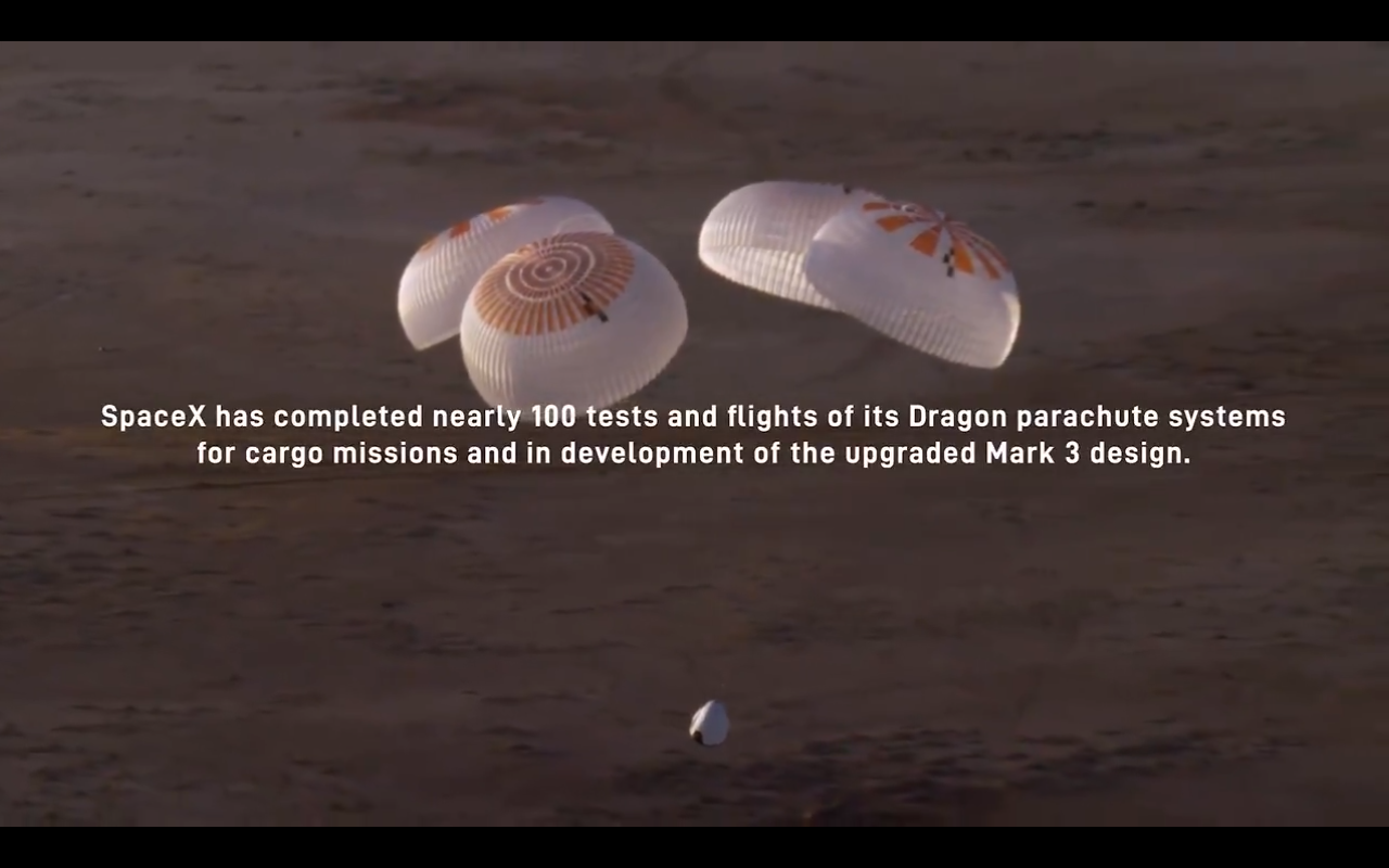 Elon Musk's SpaceX designed one of the world's safest parachute systems for Crew Dragon