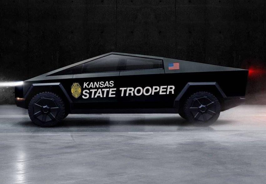 Kansas Highway Patrol PIO serving North Central Kansas wants to use Tesla Cybertruck