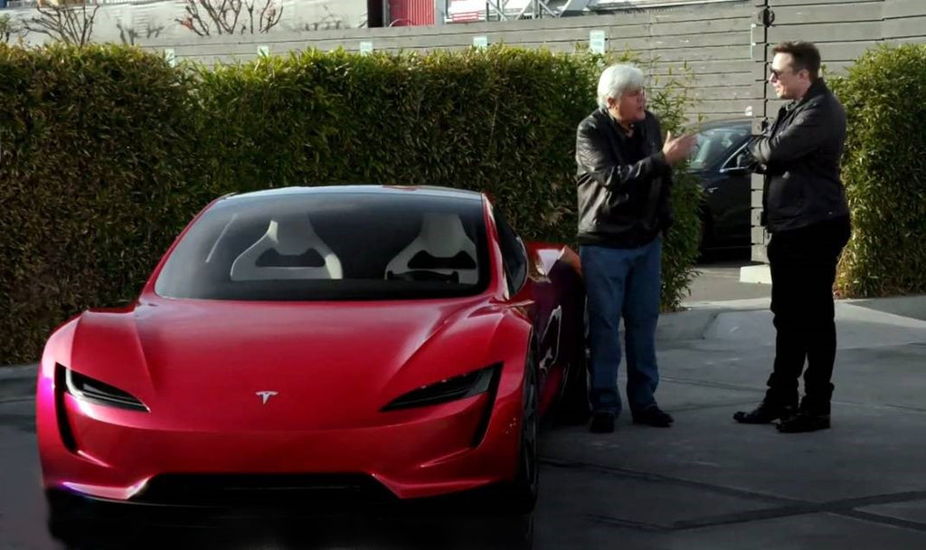 Tesla CEO Elon Musk Talks About Roadster 2.0 in Jay Leno's Garage