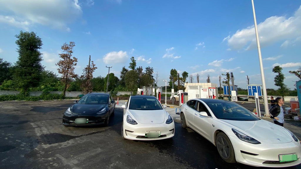Tesla Brings V3 Supercharging Station to China Highway Service Zone
