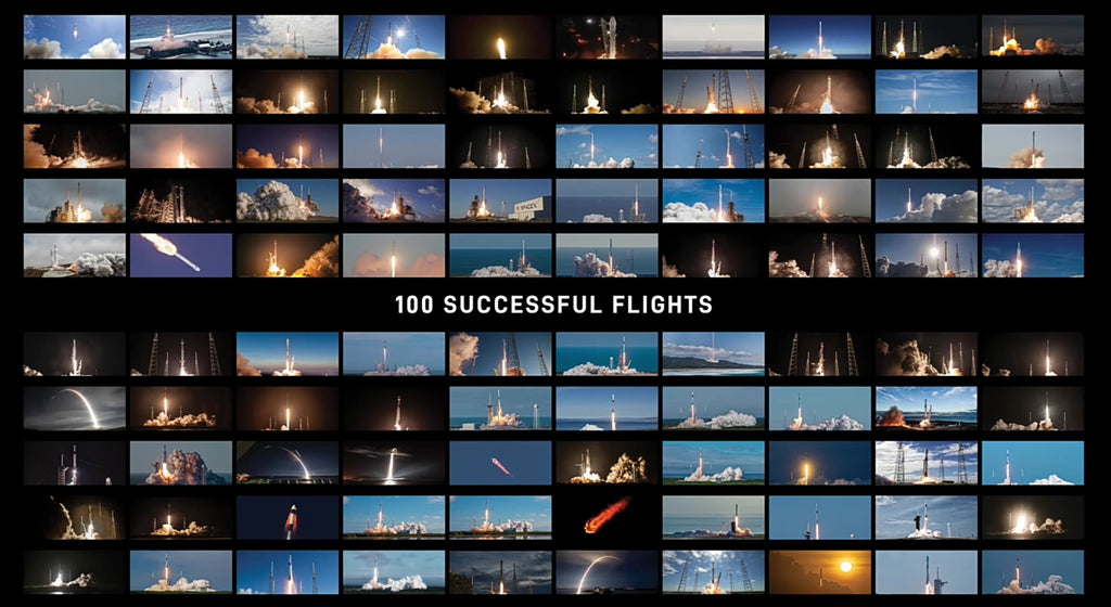 SpaceX makes history with 100 successful rocket flights!