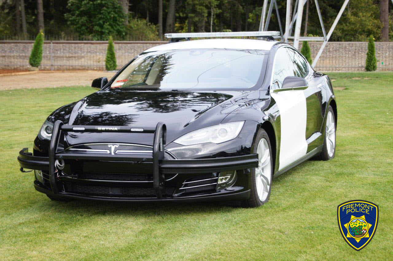 Tesla Model S Patrol Car Cheaper & More Efficient than Ford ICE Counterpart Study Finds, Fremont PD to Expand EV Fleet