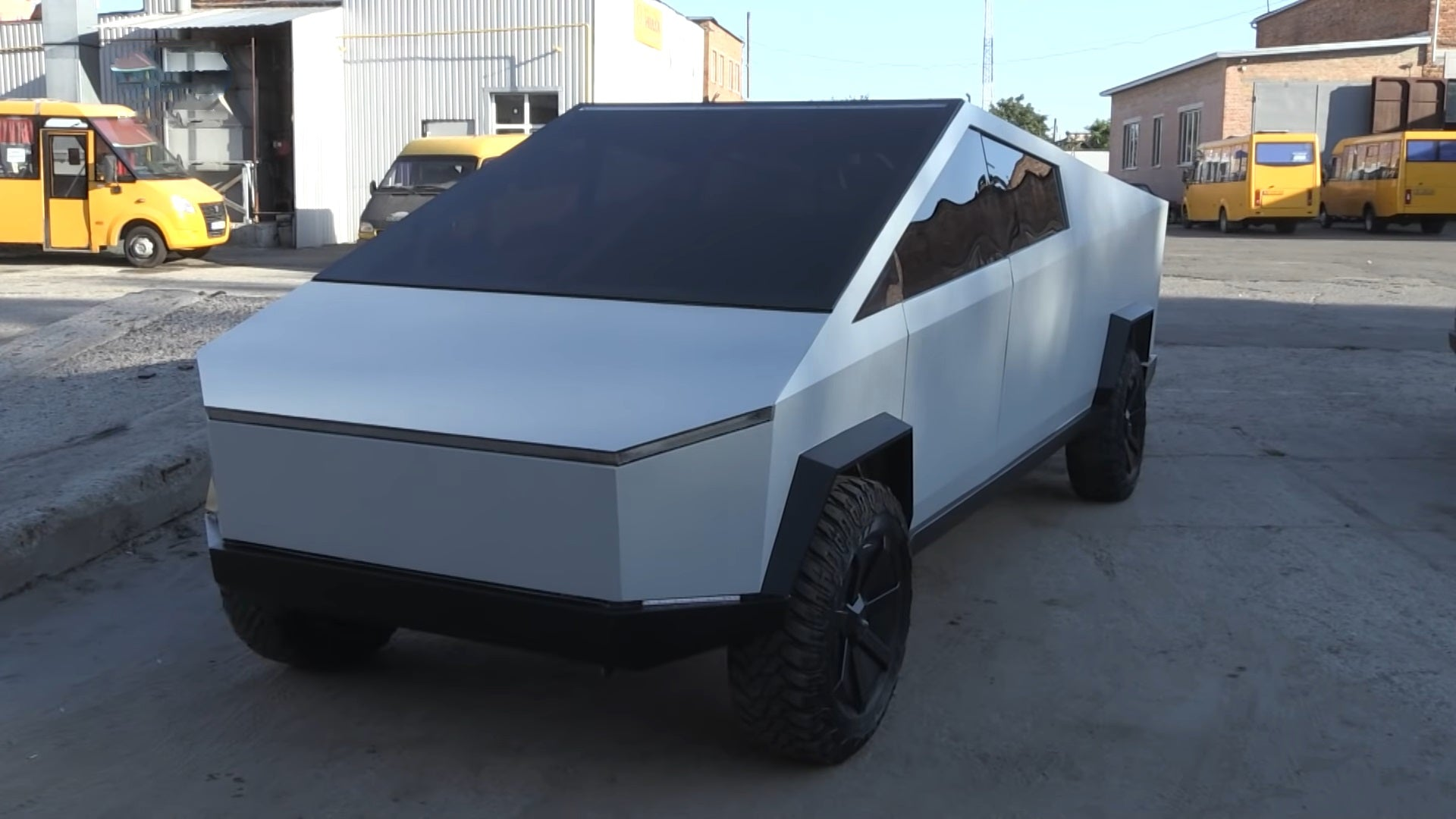 Tesla Fan Built The First Cybertruck Replica in Ukraine
