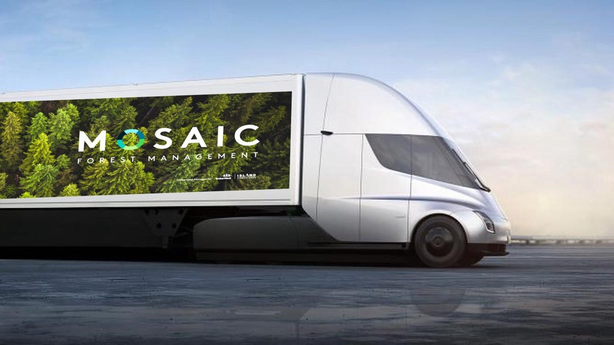 Tesla Semis Ordered for Use by Canadian Logging Company in All-Electric Truck Hauling Pilot