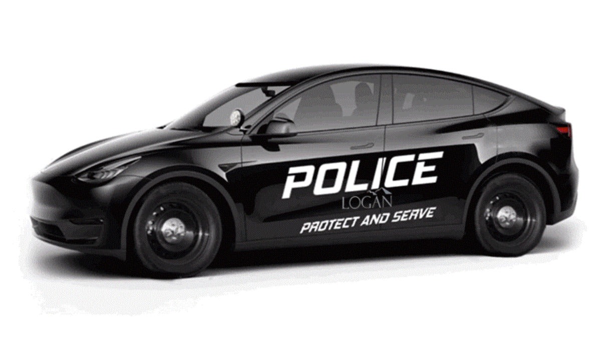 Tesla Model Y Converted to Police Cruisers at the Logan Police Department, Ohio