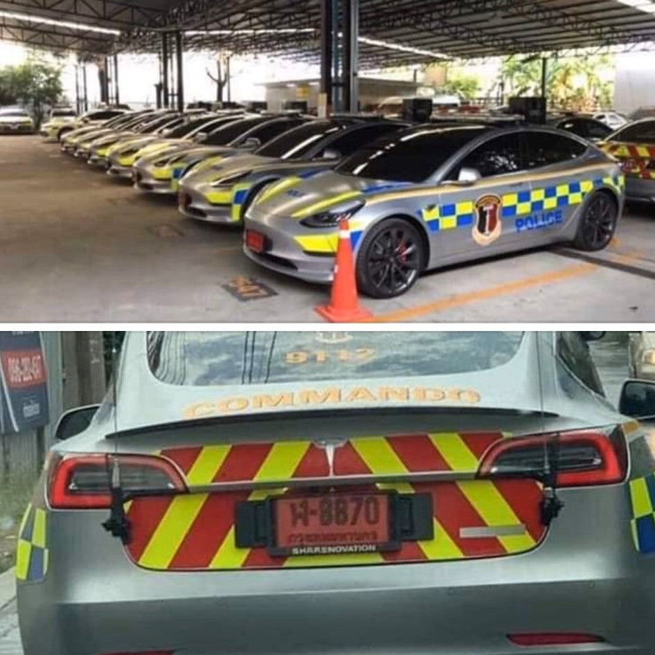 Tesla Model 3 Vehicles Are Using in Thailand National Police Fleet