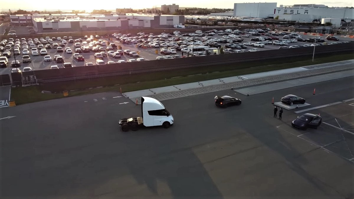 Tesla Semi Spotted on Fremont Test Track, Hints Production Could Be Imminent
