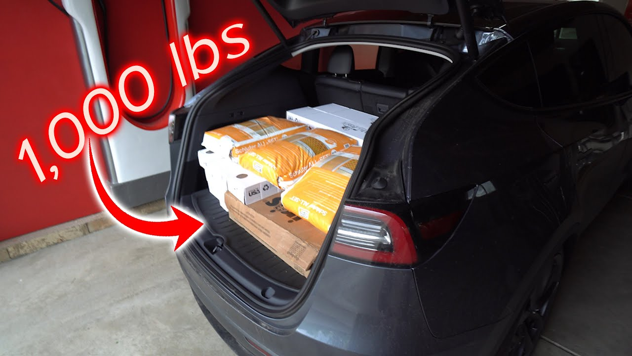 Tesla Model Y 1,000 lbs Cargo Load Capacity Stress Test