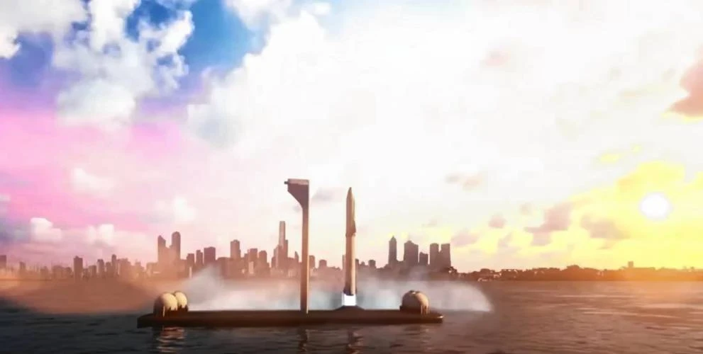 SpaceX Starship will launch from Super Heavy Class Spaceports at Sea