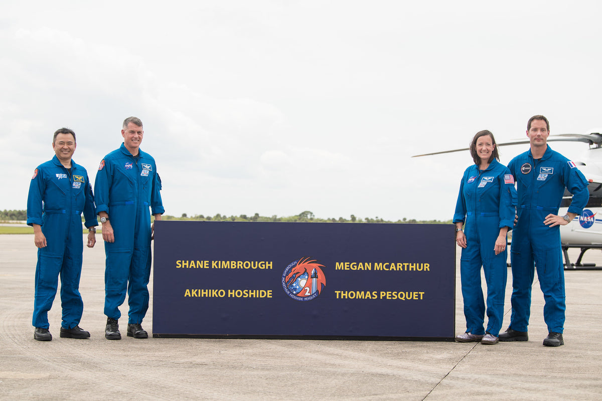 SpaceX Crew-2 Astronauts Arrive To NASA Kennedy Space Center