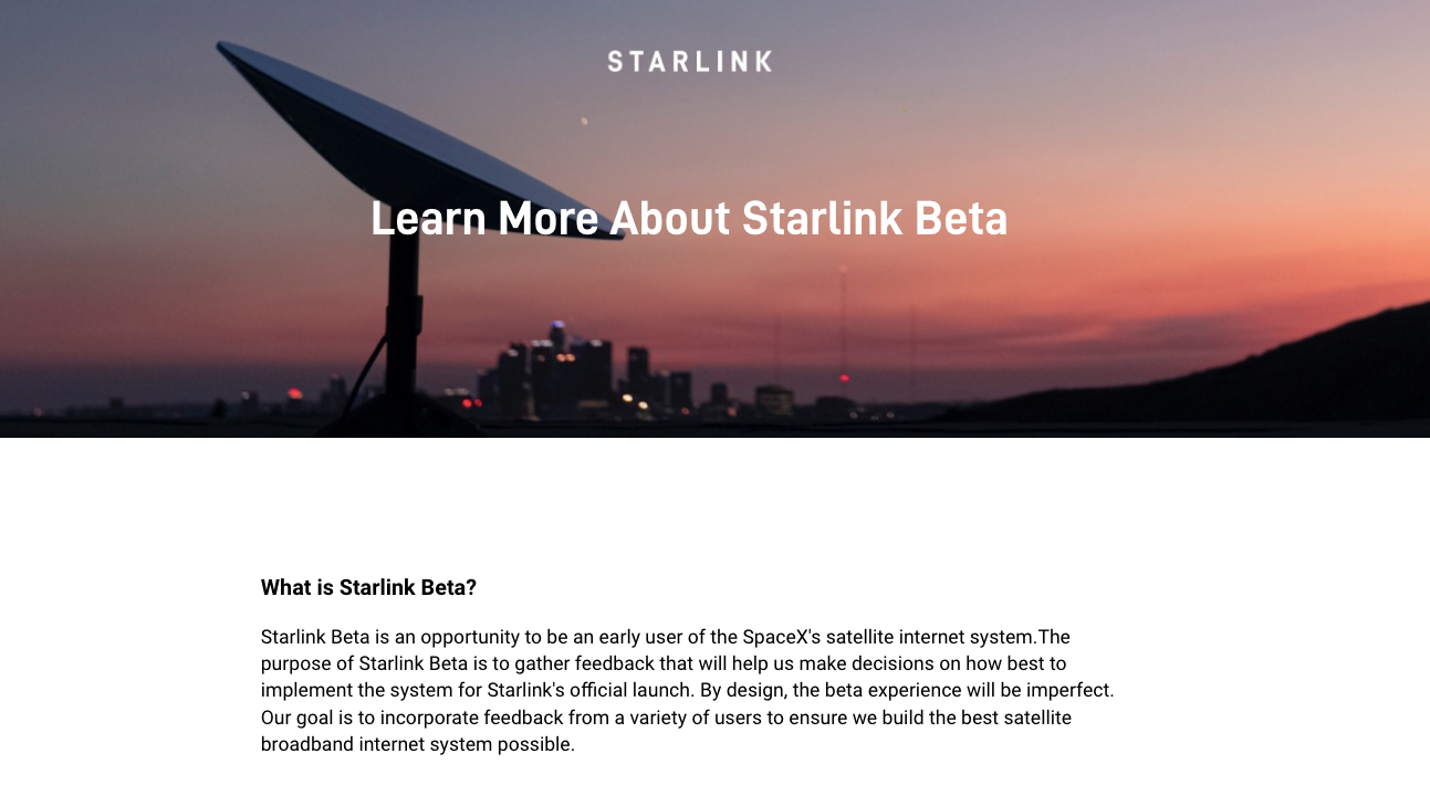 Breaking: SpaceX's Starlink Beta Tester website portal revealed in photos