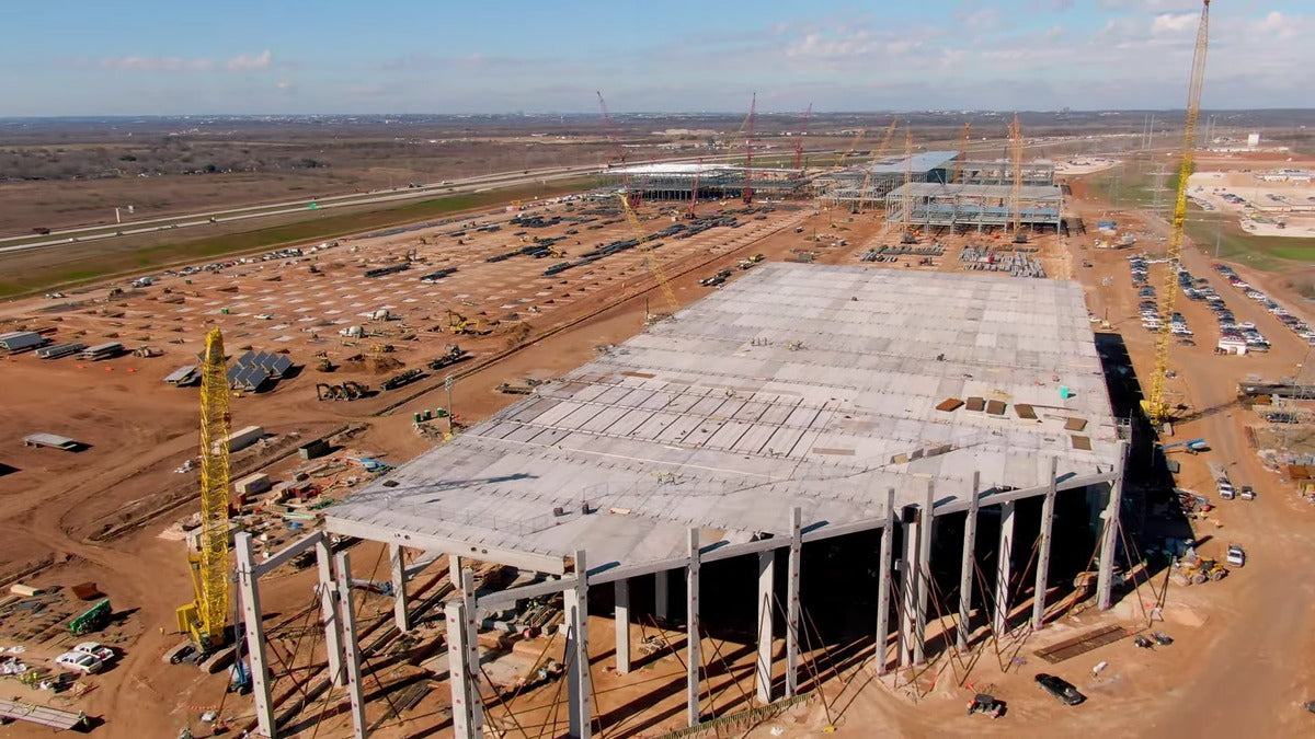 Tesla Giga Texas Is Making Huge Daily Progress: January 23 Construction Update