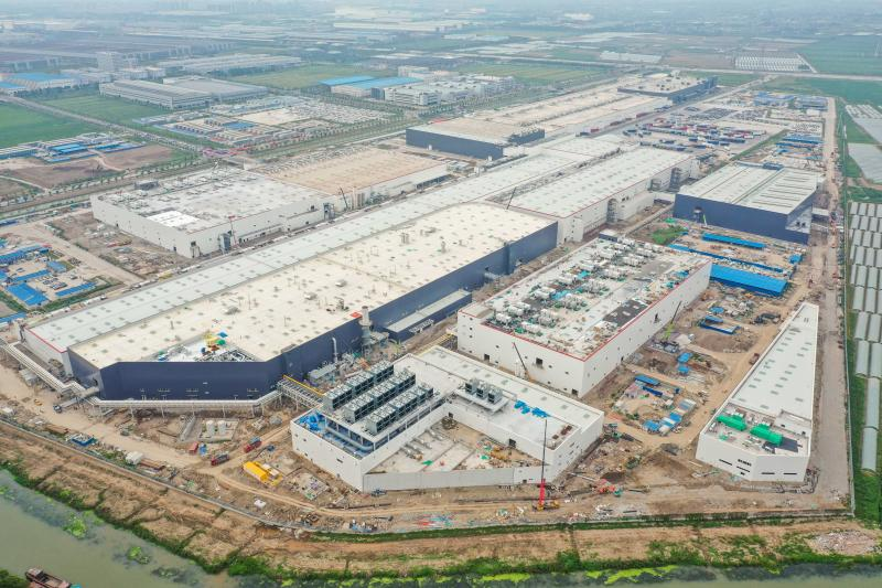 Tesla Giga Shanghai Phase 2 Main Structures Completed in Just 8 Months with 'China Speed'